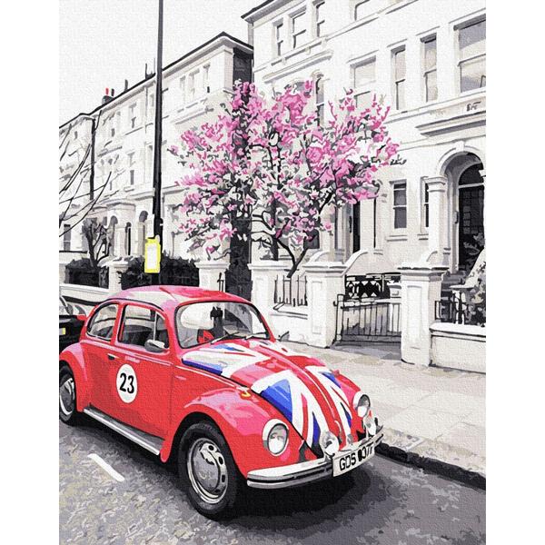 Картина по номерам Города - Британское авто