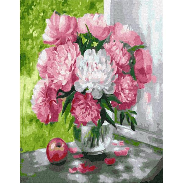 Картина по номерам Цветы - Пионы