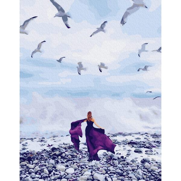 Картина по номерам Природа - Девушка и чаики