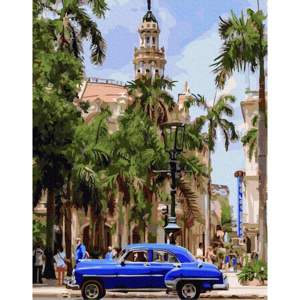 Картина по номерам Города - Авто на вулицях Куби