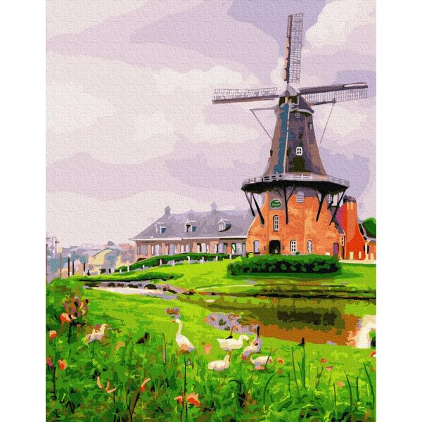 Картина по номерам Пейзажи - Млин на окраїні
