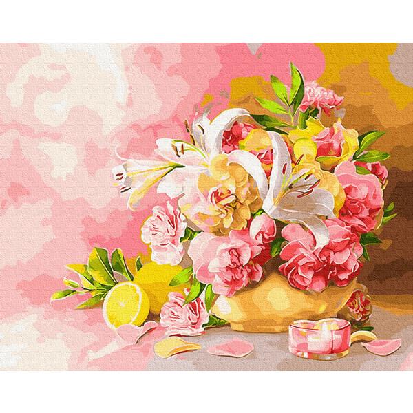 Картина по номерам Натюрморты - Букет с лилиями