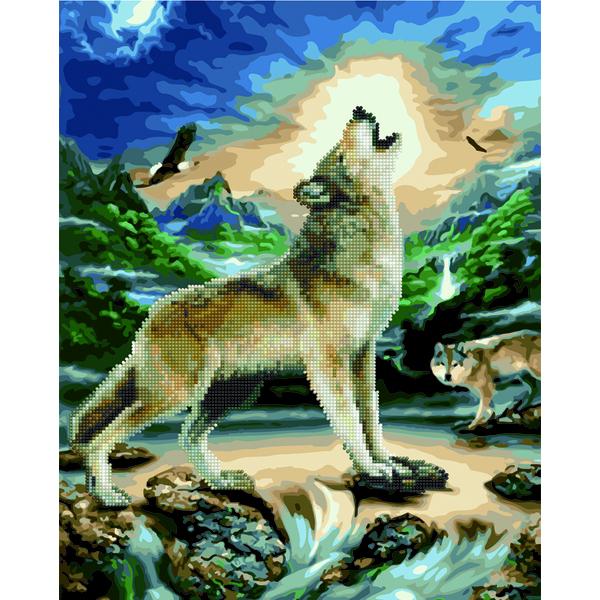 Алмазные картины-раскраски - Вой волка