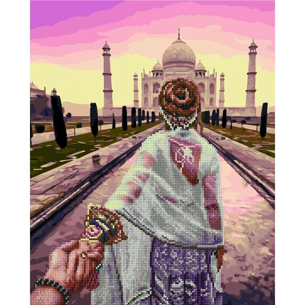 Алмазные картины-раскраски - Следуй за мной в Тадж-Махал