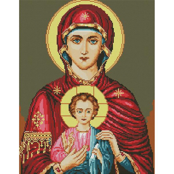Алмазная мозаика 40х50 - Икона Исус и Мария