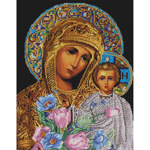 Алмазная мозаика 40х50 - Икона Мария и Исус