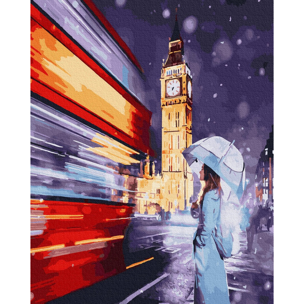 Картина по номерам Зима, Новый год, Рождество - Текучесть времени