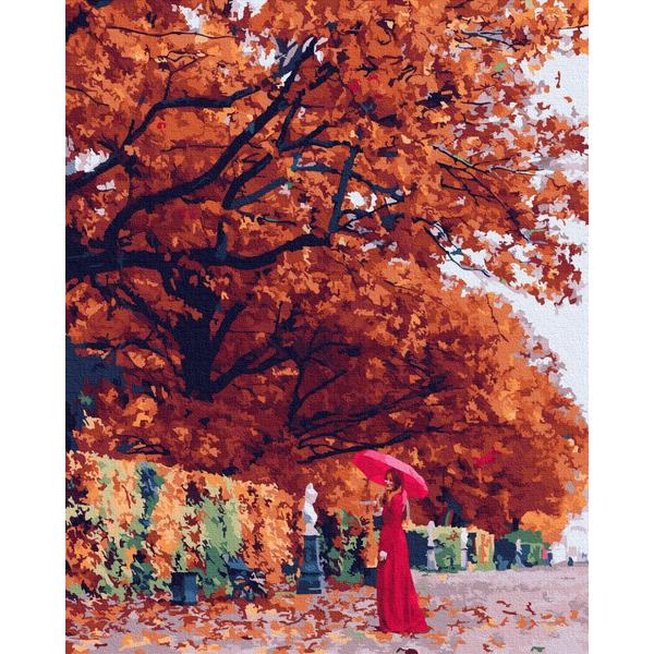 Картина по номерам Зима, Новый год, Рождество - Осенняя мадам