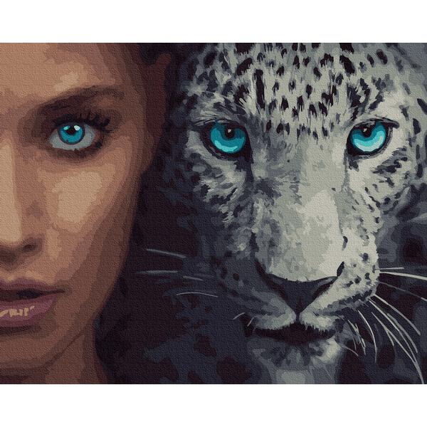 Картина по номерам Люди на картинах - Взгляд дикой кошки