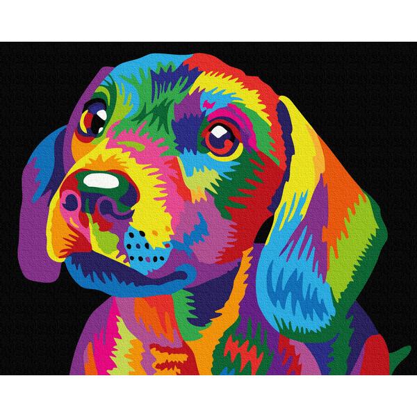 Картина по номерам Поп-арт - Веселковий пес