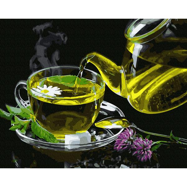 Картина по номерам Натюрморты - Трав'яний чай