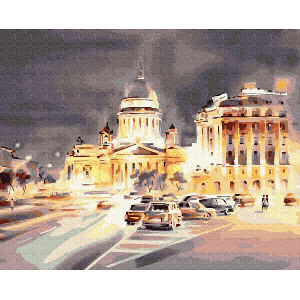 Картина по номерам Города - Світло нічного міста