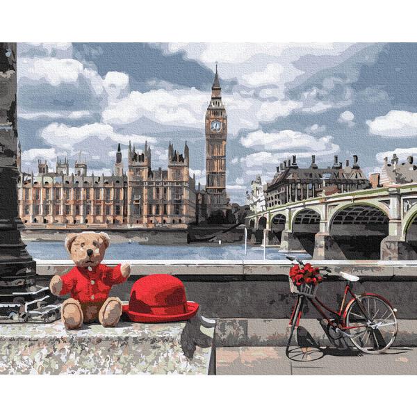 Картина по номерам Города - Ведмедик-мандрівник в Лондоні