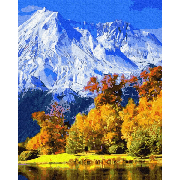 Картина по номерам Зима, Новый год, Рождество - Осінні гори