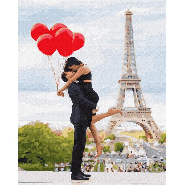 Картина по номерам Люди на картинах - Влюбленные в Париже