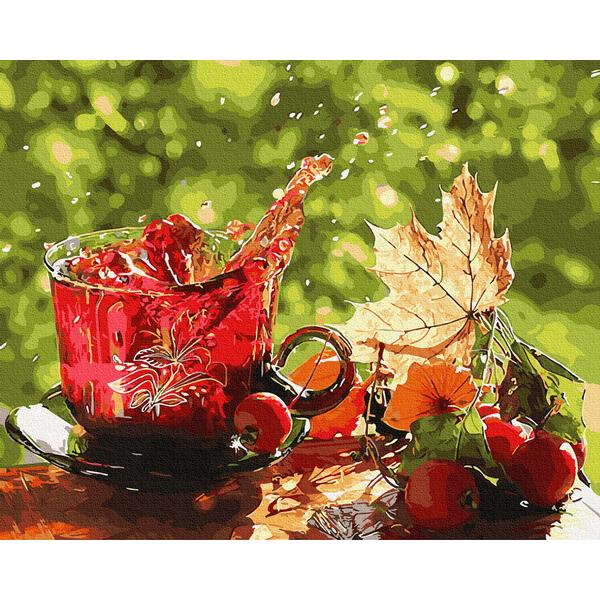 Картина по номерам Натюрморты - Фруктовый чай