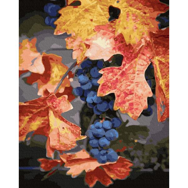 Картина по номерам Зима, Новый год, Рождество - Осенний виноград