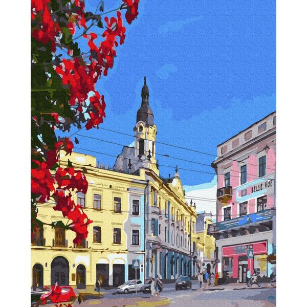 Картина по номерам Украинские города и пейзажи - Черновцы. Центральная площадь