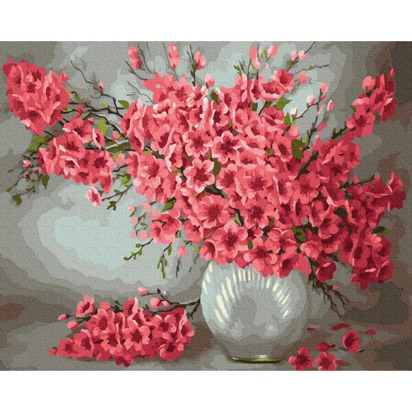 Картина по номерам Цветы - Ваза с цветами