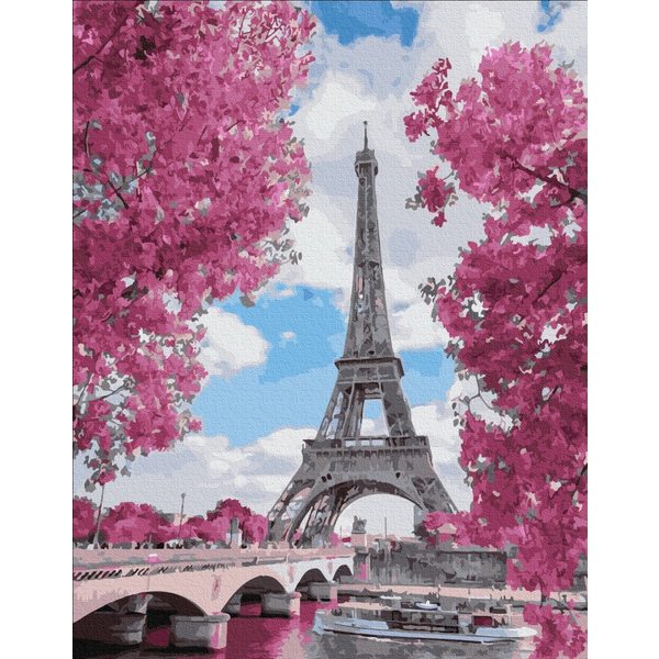 Картина по номерам ПРЕМИУМ картины - Магнолія в Парижі