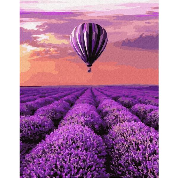Картина по номерам ПРЕМИУМ картины - Воздушный шар в Провансе