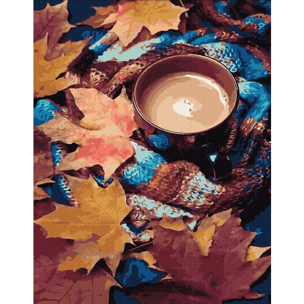 Картина по номерам ПРЕМИУМ картины - Согревающее какао