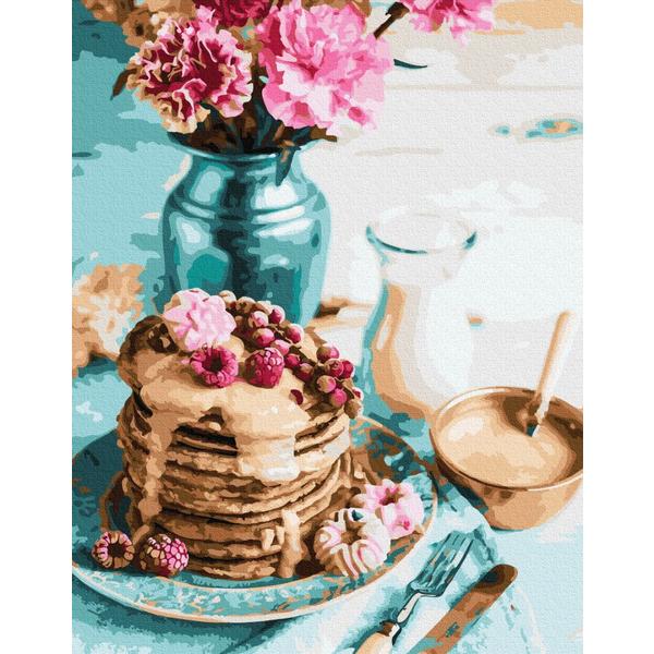 Картина по номерам ПРЕМИУМ картины - Панкейки на завтрак