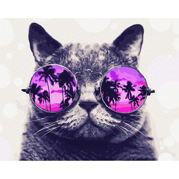 Картина по номерам ПРЕМИУМ картины - Котик на Маямі