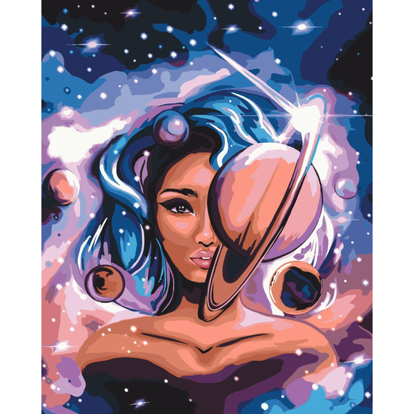 Картина по номерам Уникальные сюжеты - Міс Всесвіт
