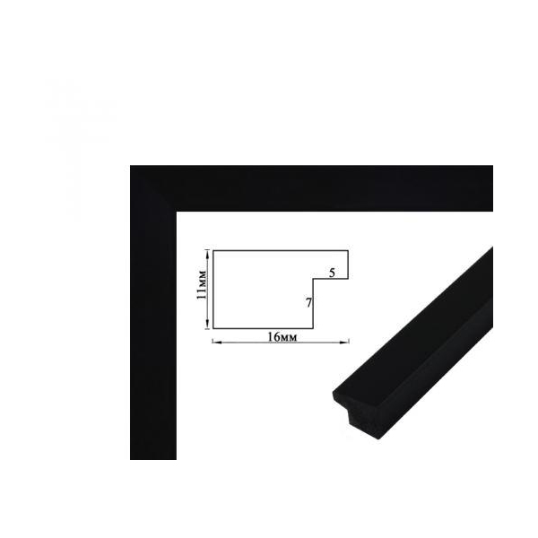 Багетные рамки - Багетная рамка (черная 2 см)