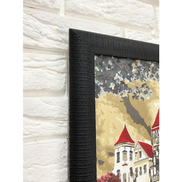 Багетные рамки - Багетная рамка (черная рельефная 4,5 см) 40х50