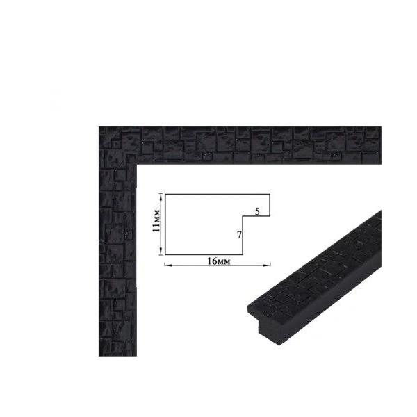 Багетные рамки - Багетная рамка (черный гранит 4 см) 40х50