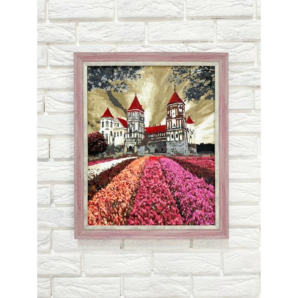 Багетные рамки - Багетна рамка (рожева посріблена 4 см) 40х50