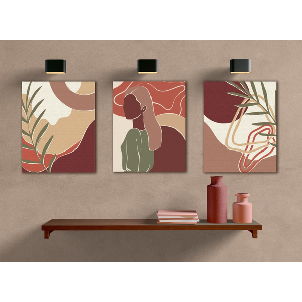 Картина по номерам Уникальные сюжеты - Триптих пастельний арт