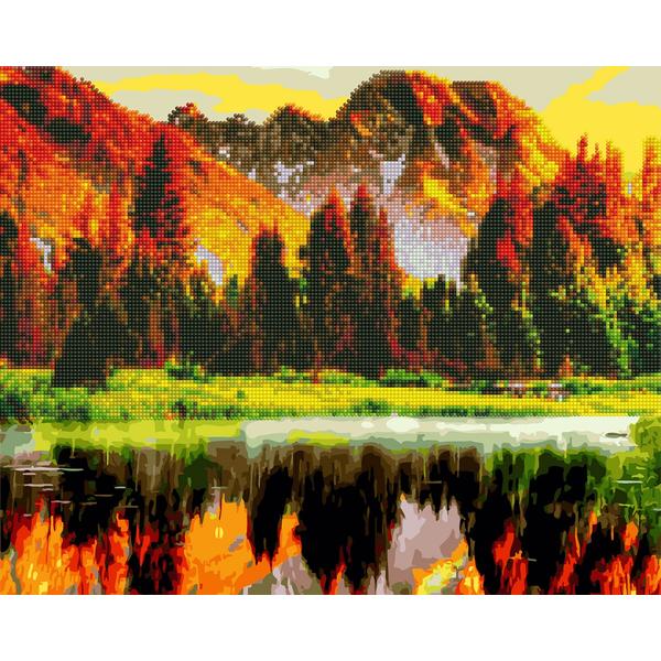 Алмазные картины-раскраски - Осінній ліс