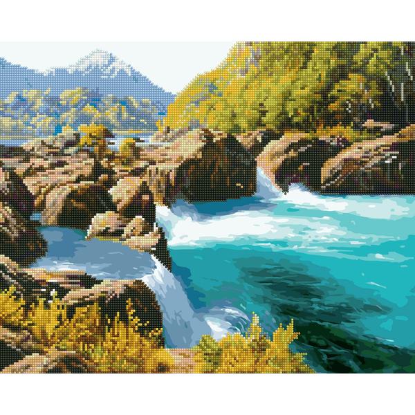 Алмазные картины-раскраски - Горная река