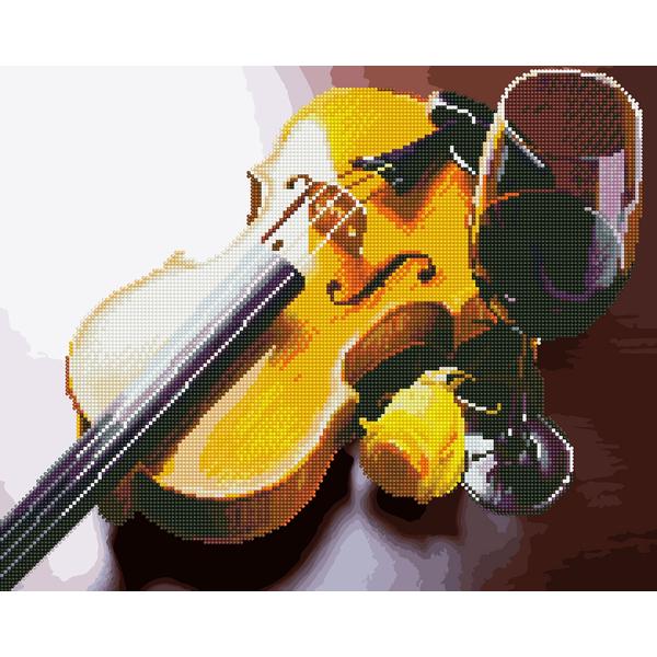 Алмазные картины-раскраски - Скрипка і вино