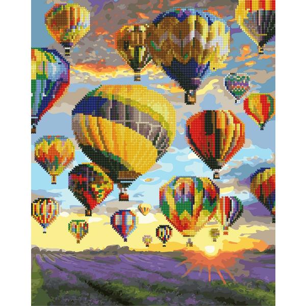 Алмазные картины-раскраски - Воздушные шары Прованса