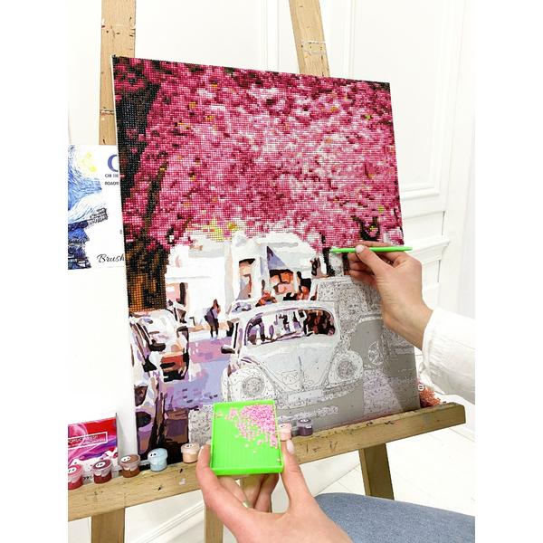 Алмазные картины-раскраски - Цветущая улица