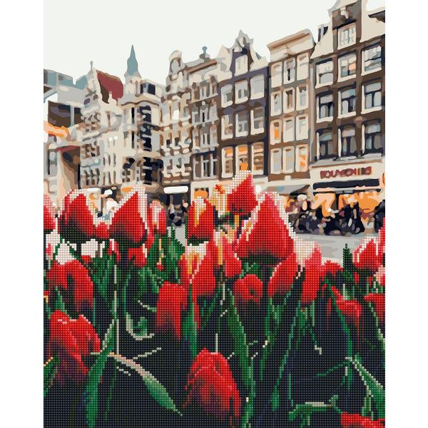 Алмазные картины-раскраски - Тюльпани Амстердаму