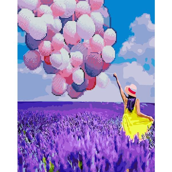 Алмазные картины-раскраски - Кульки в лавандовому полі