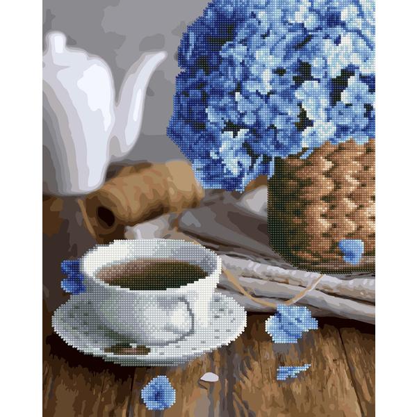 Алмазные картины-раскраски - Чай с цветочным ароматом