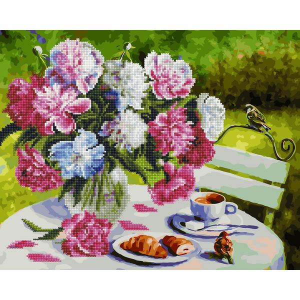 Алмазные картины-раскраски - Завтрак в саду