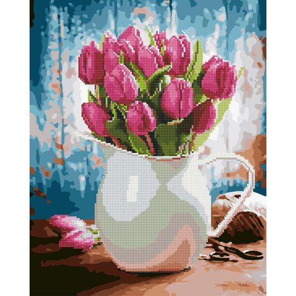 Алмазные картины-раскраски - Тюльпани для коханої