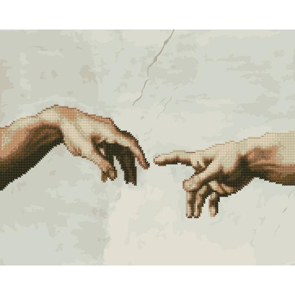 Алмазные картины-раскраски - Створення Адама