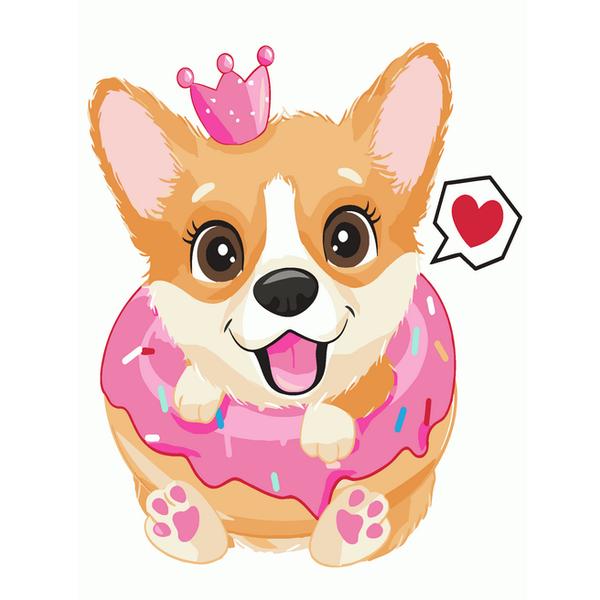 Картина по номерам KIDS - Принцеса коргі