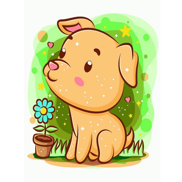 Картина по номерам KIDS - Песик садівник