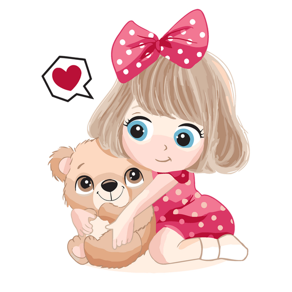Картина по номерам KIDS - Любимый мишка
