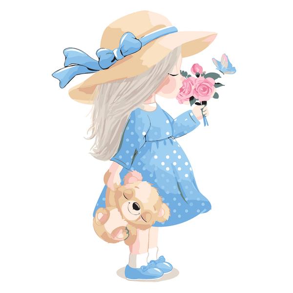 Картина по номерам KIDS - Маленькая леди
