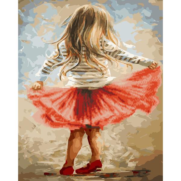 Алмазные картины-раскраски - Маленькая танцовщица